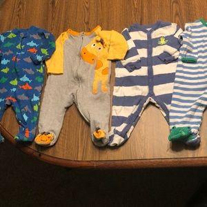 4 Baby Boy's Pajamas Size 6 Months